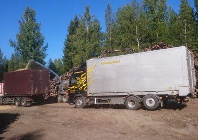puutavaraa paikallisista metsistä